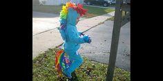 My Little Pony Halloween costume (via Imgur)