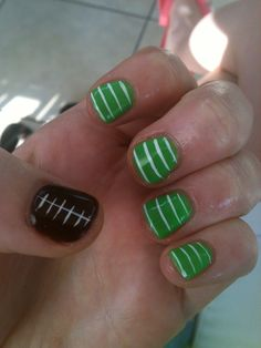 Football Nails #FootballForTheLadies