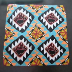 Southwestern Pattern w/Bear Claw in polymer clay by Deb Hart of Renaissance Gal in SA