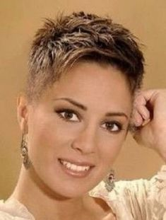 Short Curly Hairstyles For Women, Short Sassy Haircuts, Pixie Haircut For Thick Hair, Messy Short Hair, Short Hair Undercut, Really Short Hair, Super Short Hair, Short Grey Hair, Haircuts For Curly Hair