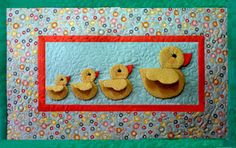 ! Sew we quilt: A very special guest and her Baby Ducks from Thimbleart