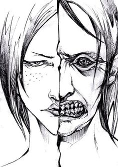 I dunno why but this just hurts. Ya know, Attack on Titan. *Cries internally* <<<<<*cough Ymir cough cough* <---- Sorry dude it's Ymir and her titan. Ymir, Ereri, Manga Art, Anime Manga, Titan Shifter, Attack On Titan Art, Illustrations, Me Me Me Anime, Tokyo Ghoul