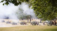 Honourable Artillery Company (HAC) City of London Reserve Regiment, fire a 41 Gun Salute to mark the birth of the Duke and Duchess of Cambridge's new baby,