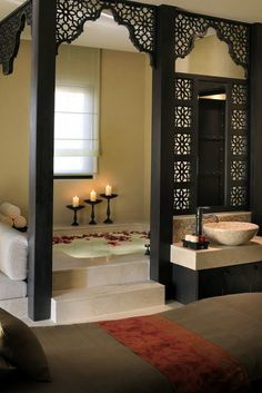 Restful Arabian Spa Romantic bath room images