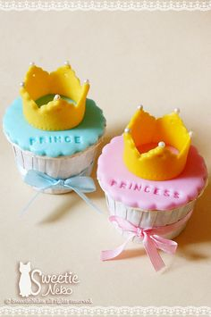 Prince & princess cupcake by SweetieNeko Homemade Sweets, via Flickr