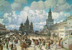 Красная площадь во второй половине XVII века. 1925. Васнецов Аполлинарий Михайлович (1856-1933)