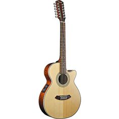 Fender® JG12CE-12 12-string Mini-Jumbo Acoustic-Electric Guitar  stock photo