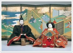 Emperor and Empress dolls 1895 from museum