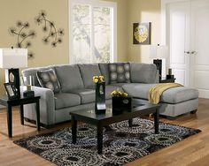 Grey couch:  i like the overall look and color combo