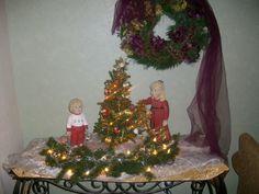 Ceramic children I made & tree