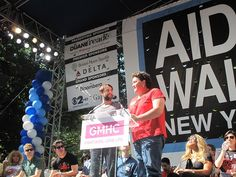 Vincent Kartheiser and Dot-Marie Jones at the 27th Annual AIDS Walk New York on May 20, 2012.