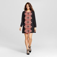Women's Placed-print Shift Dress