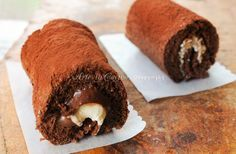 Cannoli di pasta biscotto con nutella e mascarpone, ricetta facile, cannoli dessert per feste e buffet, ricetta dolci facilissimi farciti, pasta biscotto al cacao