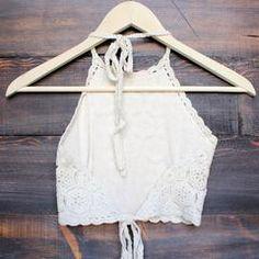 sahara crochet crop halter top - sand - shophearts - 3