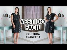 VESTIDO PARA INICIANTES COM COSTURA FRANCESA - ELLEN BORGES - YouTube