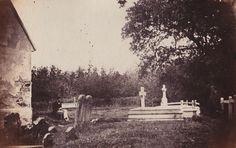 Hollington churchyard, Britain. 1860's.