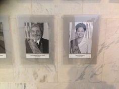 Dilma é oficialmente uma ex-presidente na parede do Planalto