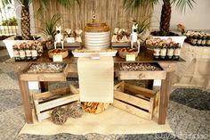 Mesa de doces Festa Safari _Dessert Table Safari Party