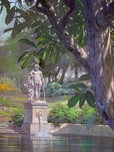 Questo dipinto è stato realizzato per un'abitazione privata a Catania. Il committente aveva richiesto un paesaggio classico o comunqu...