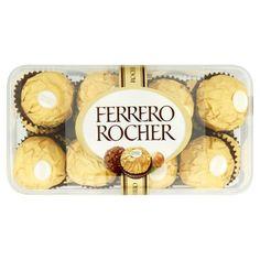 Ferrero Rocher Oplatky s polevou z mléčné čokolády a drcenými oříšky Candy Recipes, Gourmet Recipes, Ferrero Rocher Box, Chocolate Box, Crackers, Biscuits, Chips, Sweets, Snacks