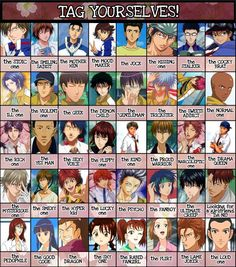 """Prince of Tennis ~~ Choose from only a FEW of the possibilities! :: I disagree with Momo being """"the jock"""". I think of him as """"the friendly one""""."""