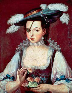A portrait of Ana de Mendoza, Princess of Eboli. By Sofonisba Anguissola. Mendoza, Mode Renaissance, Renaissance Fashion, Women In History, Art History, Women Artist, Renaissance Portraits, Badass Women, Historical Clothing