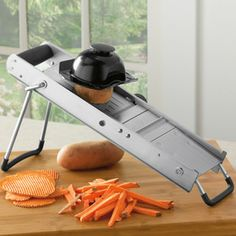 Shop Commercial Stainless Steel Mandoline Slicer at CHEFS.