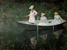 Claude Monet, n.d, The Boat at Giverny #art #painting