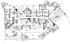 Drop my in NM/AZ - Adobe House Plan with 3838 Square Feet and 4 Bedrooms from Dream Home Source House Plan Code Modern Castle, Modern Mansion, Modern Homes, Dream House Plans, House Floor Plans, Plan Design, Home Design, Interior Design, Castle Floor Plan