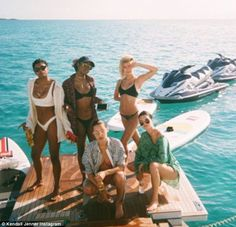 Wanna get away? Earlier in the day, the beauty took to Instagram and shared a throwback shot of her and model friends Hailey Baldwin, Bella Hadid, Justine Skye, and Renell Medrano enjoying a tropical vacation together