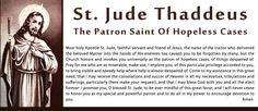 St. Jude. My favorite patron saint.