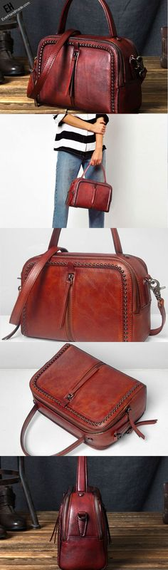Handmade Leather handbag purse shoulder bag for women leather