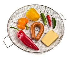 Pro Q Smoker basket makes it handy to hold smaller items being smoked. Bbq Accessories, Plastic Cutting Board, Basket, Kitchen, Cooking, Kitchens, Cuisine, Cucina