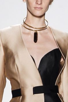 High Fashion, Womens Fashion, Sculptural Fashion, Cutout Dress, Fashion Details, Fasion, Black Gold, Bodice, Chokers