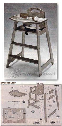 Children's Highchair Plans - Children's Furniture Plans and Projects | WoodArchivist.com