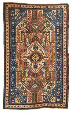 Rare et magnifique KIZIM -OUCHAK , fin du 19e siècle 236 x 140cm