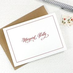 classic calligraphy stationery by naomilynn