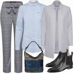 mantel Damen Outfit - Komplettes Business Outfit günstig kaufen | FrauenOutfits.de Komplette Outfits, Business Outfits, My Outfit, Mantel Outfit, Polyvore, Image, Fashion, Gray Blazer, Black Shoes