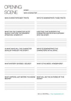 This writing worksheet can help your character make an entrance and set the scene