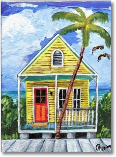 House Paintings key west beach house painting | decorate inside | pinterest | key west