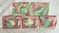 Crisp Apple Rose Handmade Soap Bar by SirenSoapsAK on Etsy