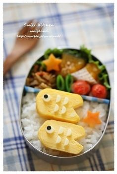 fried egg koinobori bento