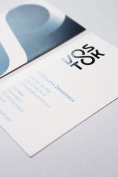 VOSTOK8 business card by Kasia Kaczmarek #businesscard