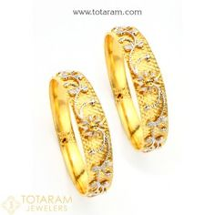Gold Bangles for Women in 22K Gold Indian Gold Jewelry in 22K Gold from Totaram Jewelers Online jewelry store