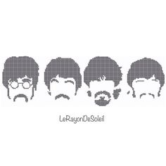 The Beatles cross stitch pattern 4 SMALL The Beatles