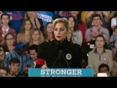 Lady Gaga Campaigns With Hillary Clinton FULL Speech in Raleigh, NC 11/8/16 - YouTube