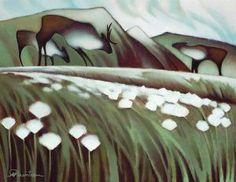 Arctic Cotton Grass by Nathalie Parenteau , yukon Canadian Painters, Canadian Artists, Claudia Tremblay, Native Canadian, Henn Kim, Woodland Art, Native American Artists, Native Art, Cool Art