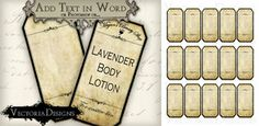 Printable Blank Apothecary Labels - use in blog