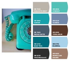 Color Palette Aqua Telephone