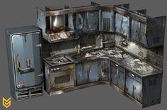 Killzone: Shadow Fall Kitchen prop by Phade01